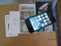 Apple Iphone 4 -8GB- Black Unlocked Smartphone boxed excellent mint condition