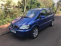 VAUXHALL ZAFIRA BREEZE 2005 7 SEATER BLUE ALLOYS