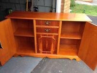 Yew wood sideboard