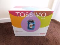 TASSIMO VIVY COFFEE MACHINE (BLUE) £35
