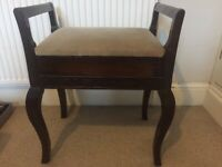 Beautiful Victorian reupholstered piano stool