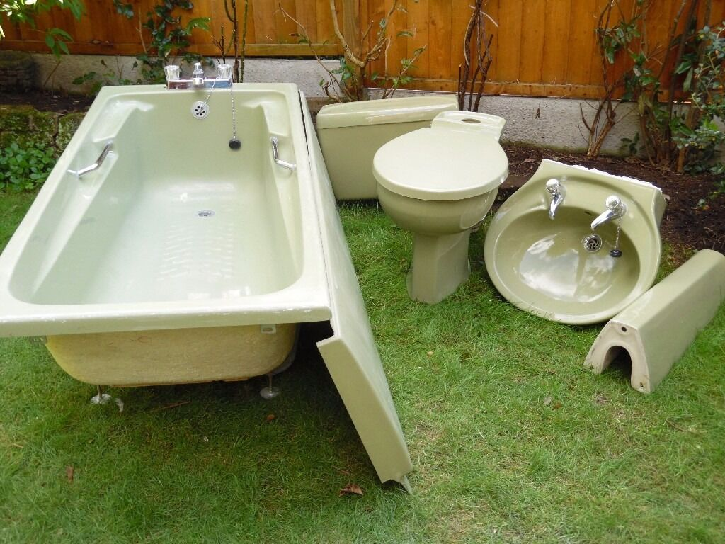 Avocado Bathroom Suite Avocado Bathroom Suite 3 Piece In Bewdley Worcestershire
