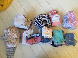 Large bundle of baby girl clothes aged 3-6 months