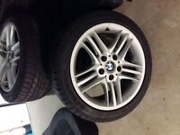 """17"""" Genuine BMW wheels with good tyres 5mm+"""