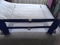 Mothercare bed guard, folds down for access