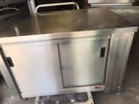 2 SIDE DOORS HOT CUPBOARDS FOOD PLATE WARMER CATERING COMMERCIAL FAST FOOD RESTAURANT TAKE AWAY SHOP