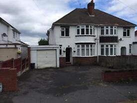 3 BEDROOM PROPERTY ON THE BROAD WAY IN DUDLEY WITH GARAGE GARDEN DRIVEWAY