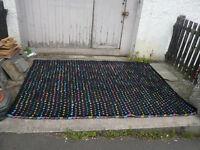 Habitat large black carpet (Paige) with multi-coloured spotted pattern 170x240cm