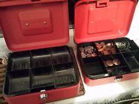 Cash boxes 8 inch x 2