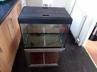 2 foot fish tank, table/stand lid/light/heather/filter (some wear marks)