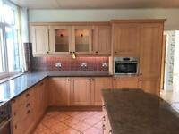 Stunning Solid Oak Framed Kitchen Units with Island