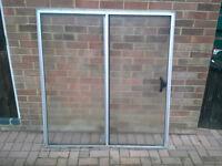 Large aluminium half sliding window