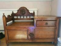 Wooden storage chair