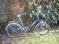 vintage folding bike,3 speed,very tidy indeed,runs perfectly