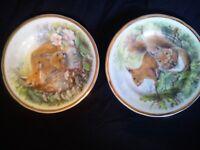 Display plates bone china. etc.