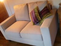 Two Seater Sofa, Beige