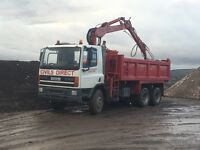 DAF 75CF GRAB WAGON, MUCK AWAY, HIAB, TIPPER TRUCK