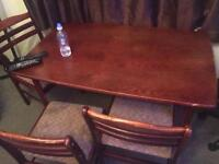 Free dining table with 4 chairs ,solid wood
