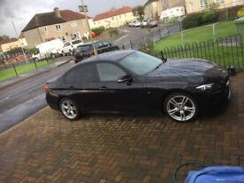 Immaculate BMW 318d m sport in stunning black with leather interior