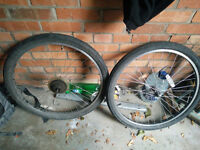 """26"""" x 1.95 Scwalbe City Jet wheels"""