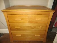 Superb solid oak Mamas & Papas OCEAN dresser/changer in golden oak