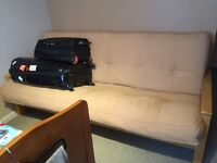 Large Futon, in good condition, converts to Double Bed