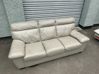 Grey leather dfs sofa delivery 🚚 sofa suite couch furniture
