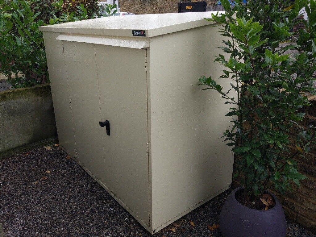 asgard addition bike storage shed cream in forest hill. Black Bedroom Furniture Sets. Home Design Ideas