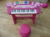 Chad Valley Children's Electronic Keyboard with Stool