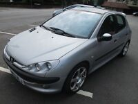 2002 PEUGEOT 206 MOT 09/17 PANORAMIC SUN ROOF CD PLAYER REMOTE CENTRAL LOCKING PX SWAPS WELLCOME