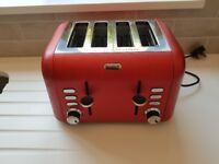 Red Breville toaster