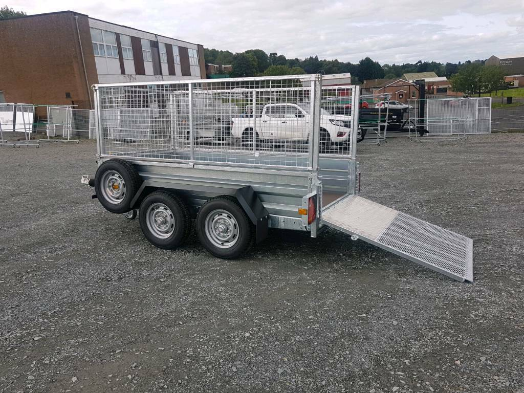 8x4 twin wheel indespension car trailer 2 6ton braked with