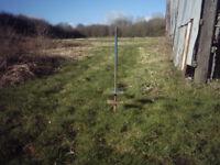 Sheep/Cattle stake for salt or feed blocks .