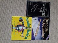 Three recorder books