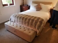 Bed with Mattress and Bed Ottoman storage