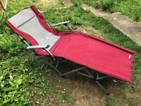 Gelert Trinidad Lounger with Aluminium arms in original carry case - As New