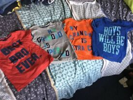 Assorted Boys Slogan T-shirts - 2-3 years.