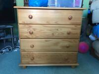 Bedside table and chest of drawers