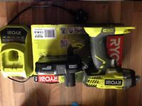 Impact driver drill with battery and charger