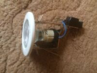 Acel mains voltage white spot/downlights, inc 3.5w COB LED bulb - 9 available at £2.50 each
