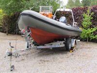 Viking (Tornado design) 5.8m RIB with 80HP Yamaha 4-stroke outboard