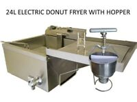 Donut Nut Fryer With Donut Hopper 24L en197