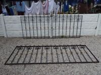 wrought iron railings / metal fence / wall topper / driveway / patio / garden fence / decking area