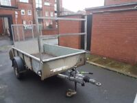ifor Williams GD84 Single Axle Braked Trailer with Ramp and Ladder Rack