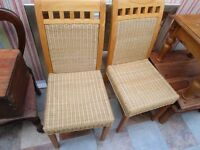 4 NEAR AS NEW, DINING CHAIRS, VGC
