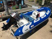 Avon Adventure Hypalon 7Man RIB Rigid Inflatable Boat Four Stroke Outboard Power tilt New Trailer