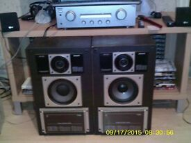 Philips F9412 three way speakers. ( 2). Plus Sony TA-FE370 amplifier.