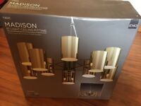 Next Madison 10 light gold ceiling fitting - brand new
