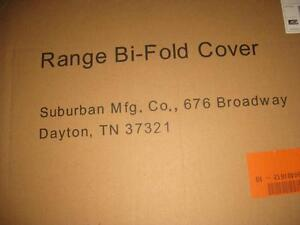 Suburban 2814A Slide In Black Bi-Fold Cooktop Cover / Burner Cover / Range Cover. Stove Top. NEW