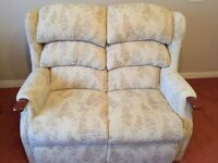 Electric Riser/Recliner Chair and Matching 2 Seater Couch